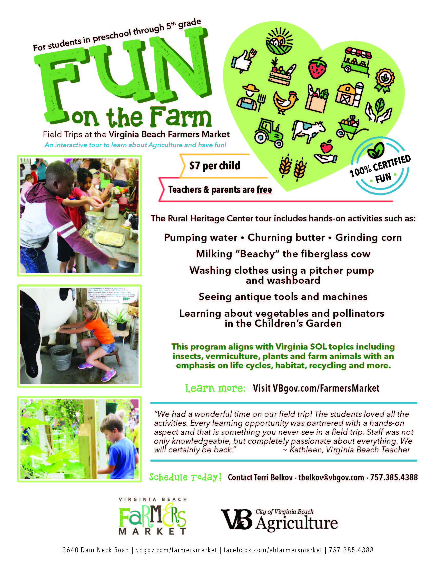 Fun on the Farm flyer