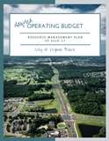 Operating Budget booklet