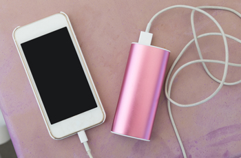 cell phone charging with portable battery