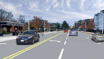 rendering of 19th street improvements