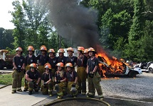 Fire Explorers group photo