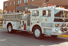 White fire engine