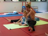 Infant and mother gymnastics