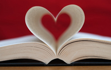 Book with pages shaped like heart