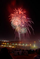 Fireworks at Mount Trashmore