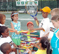 Kids playing at Owl Creek Tennis Center