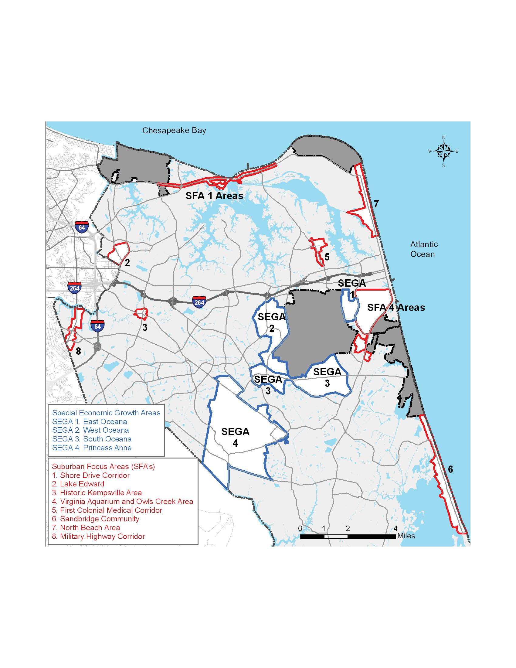suburban focus areas (sfas) and special economic growth areas (segas) map. maps  vbgovcom  city of virginia beach