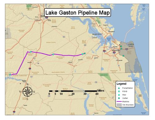 Lake Gaston Pipeline Map