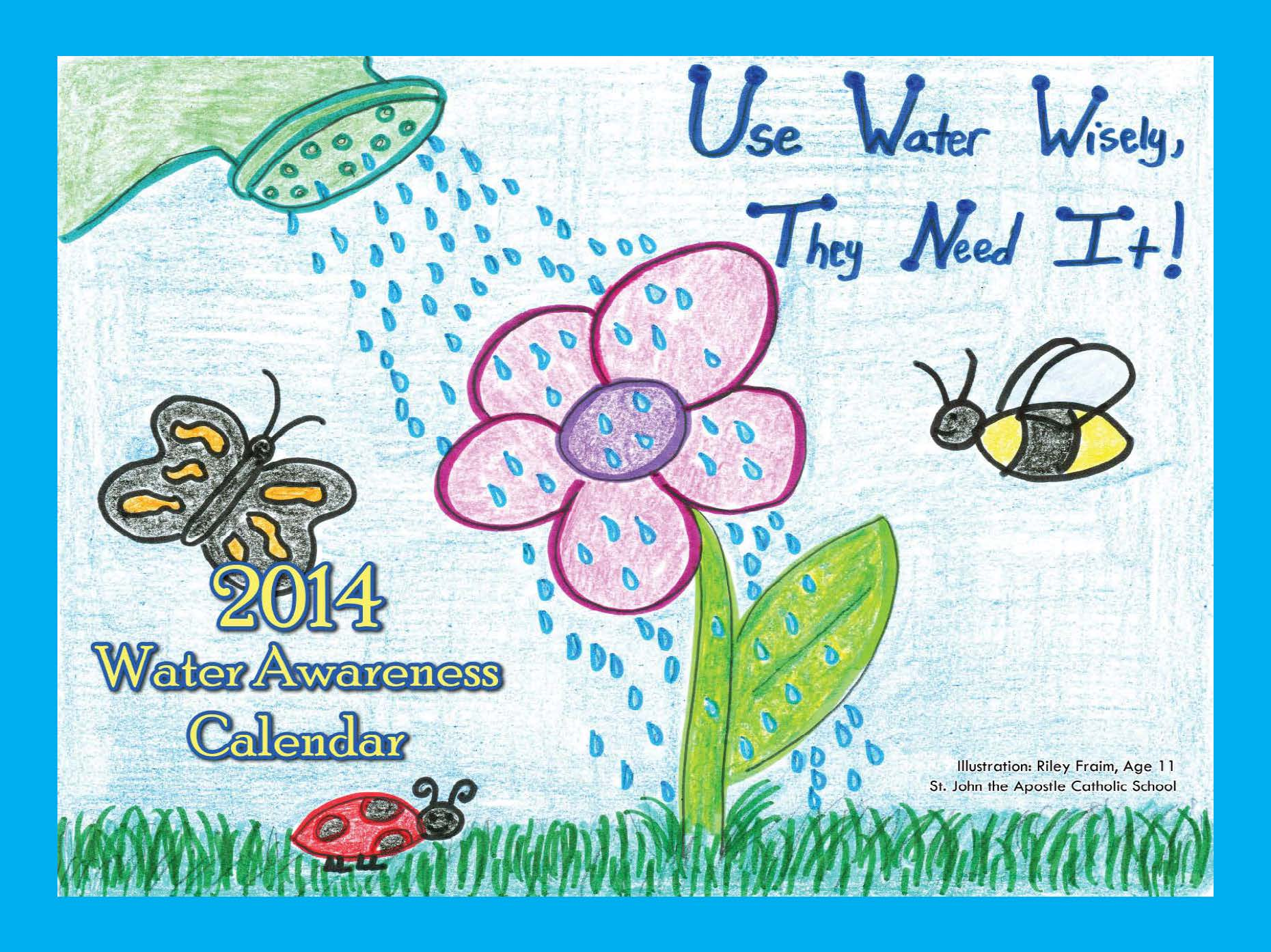 Calendar Drawing For Kids : Water awareness calendar contest vbgov city of