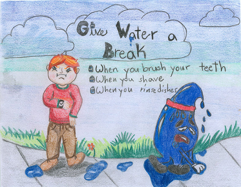 Child's drawing - Outdoor Water Use