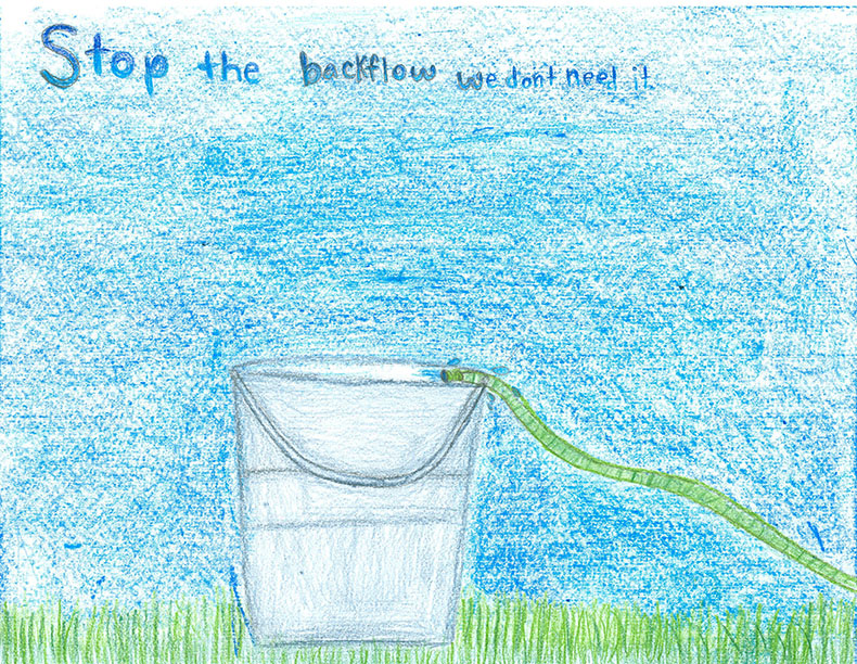 child's drawing - Don't let water run