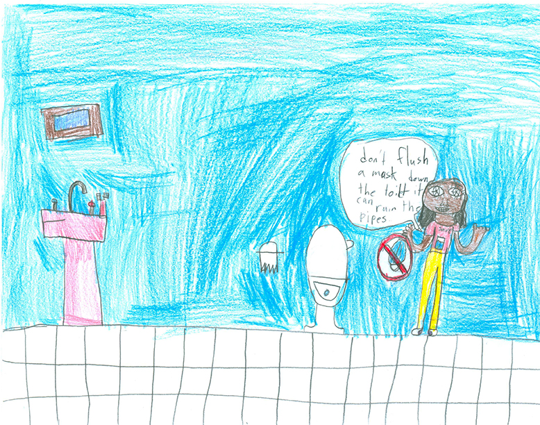 Child's Drawing - Fix leaky pipes