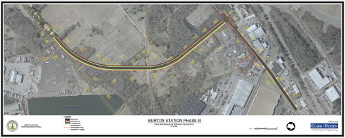 Burton Station aerial map