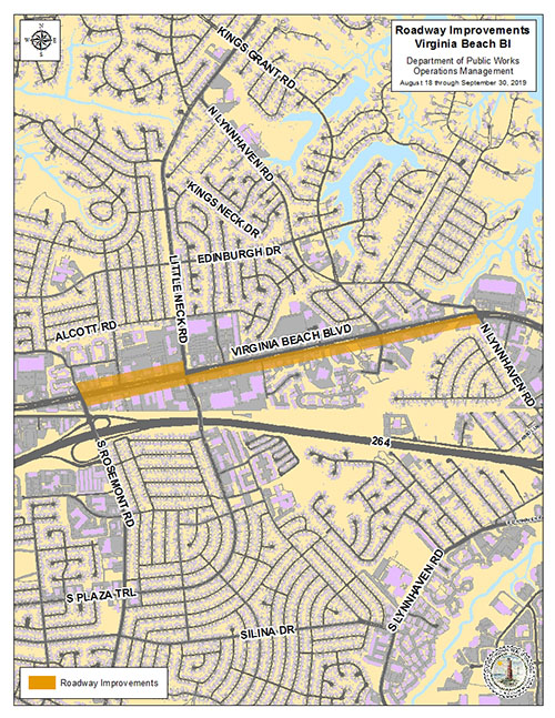 Roadway Improvements on Virginia Beach Blvd  to Begin This