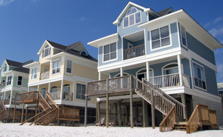 image of beach homes on stilts