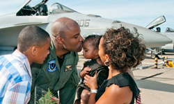 Navy pilot and family